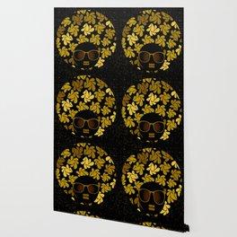 Afro Diva : Gold Wallpaper
