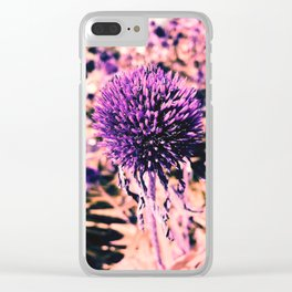 Purple Pop-up Clear iPhone Case