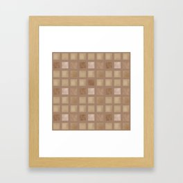 Brown tile . Framed Art Print