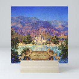 Broadmoor Hotel, Colorado Springs landscape by Maxfield Parrish Mini Art Print
