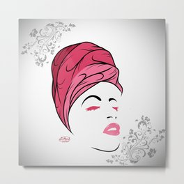 Lady Wrap (pink) Metal Print