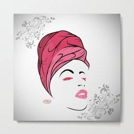 Lady Wrap (pink) Metal Print