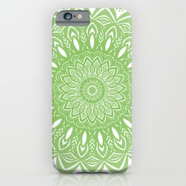 Light Lime Green Mandala Simple Minimal Minimalistic iPhone Case
