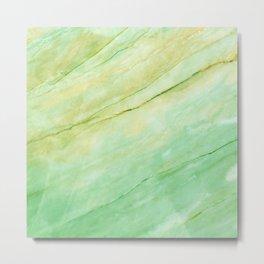 Light green marble Metal Print