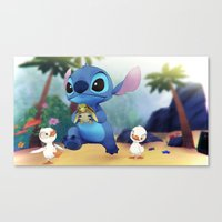 stitch Canvas Prints featuring Stitch by beastace