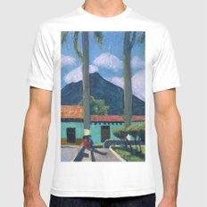 Antigua Park Bench SMALL White Mens Fitted Tee
