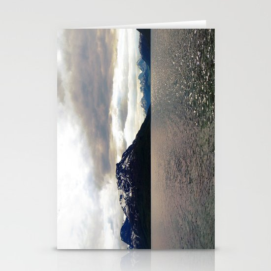 lyngen fjord panorama, norway. Stationery Cards