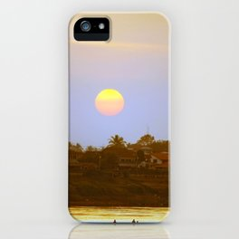 Sunset on Mekong iPhone Case