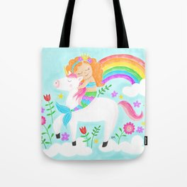 Unicorns, Mermaids & Rainbows...Oh My! Tote Bag