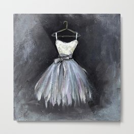 Ballerina Dress 2 - Painting Metal Print