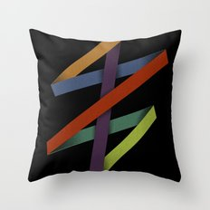 Folded Abstraction Throw Pillow