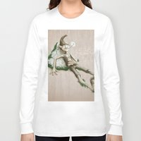 elf Long Sleeve T-shirts featuring Relaxed elf by Jordygraph