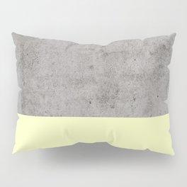 Yellow on Concrete Pillow Sham