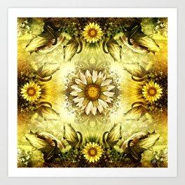 """Victorian Garden Spring Flowers"" Art Print"
