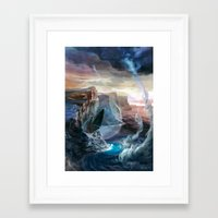 magic the gathering Framed Art Prints featuring Island - Magic: The Gathering by vmeignaud