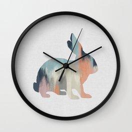 Pastel Rabbit Wall Clock