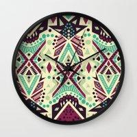tribal Wall Clocks featuring Tribal by Kakel