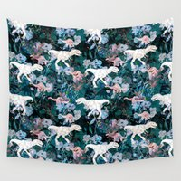 jurassic park Wall Tapestries featuring Jurassic by Bobo1325