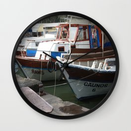 Caunos Riverboats at Dalyan Wall Clock