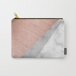 Rose Gold and Marble Carry-All Pouch
