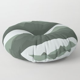 Mountain View   Green Floor Pillow