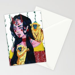 Oni girl Stationery Cards