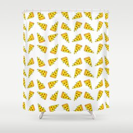 i want pizza Shower Curtain