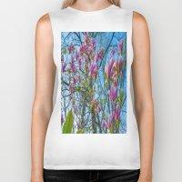 magnolia Biker Tanks featuring Magnolia by Ricarda Balistreri