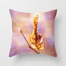 GOLDEN AUTUMN LEAF Throw Pillow