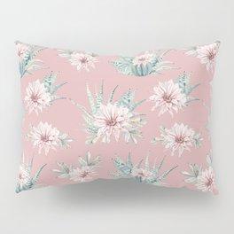 Echeveria Garden Roses Coral Rose Pink Pillow Sham
