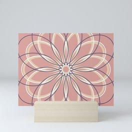 Orange Retro Geometric Flower - c13271.2 Mini Art Print