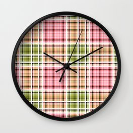 Checkered background.4 Wall Clock