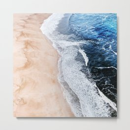 Salty Paths of Waves Metal Print