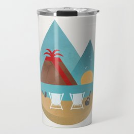 Volcano Sunset Travel Mug