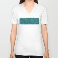 sharks V-neck T-shirts featuring Sharks by Last Call