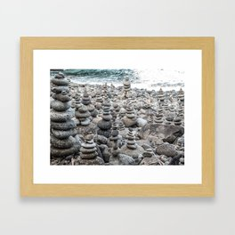 Balancing Rocks Framed Art Print