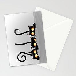 Three Naughty Playful Kitties Stationery Cards