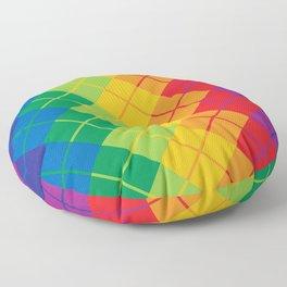 Rainbow Argyle Floor Pillow