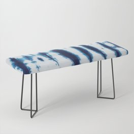 Linen Shibori Shirting Bench