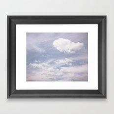 Sweet Clouds Framed Art Print