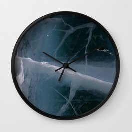 Cracked Road Ice Wall Clock