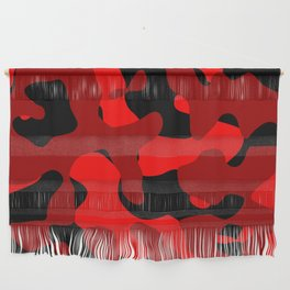 Black and Red Camo abstract Wall Hanging