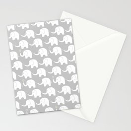 Elephant Parade on Grey Stationery Cards
