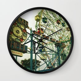 Coney Island Ferris Wheel Wall Clock