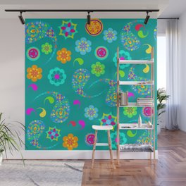 Green Paisley № 5 Wall Mural