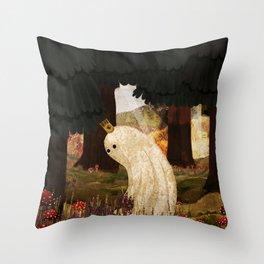 Mushroom King Throw Pillow