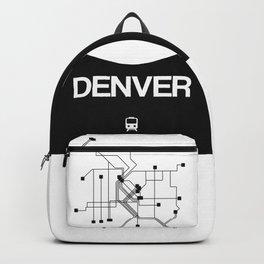 Denver White Subway Map Backpack