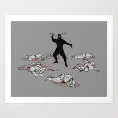 Racist Ninja Art Print