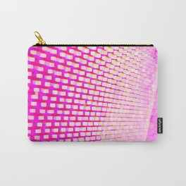 Eye Play in Pink and White Carry-All Pouch