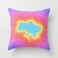 ukraine Throw Pillows featuring Ukraine by Tasha-Nova